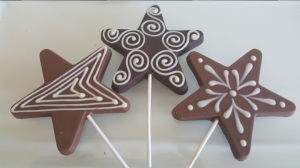 Hand Painted Star Lollies