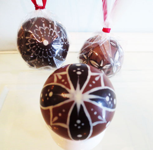 Hand Painted Chocolate Ball Ornament